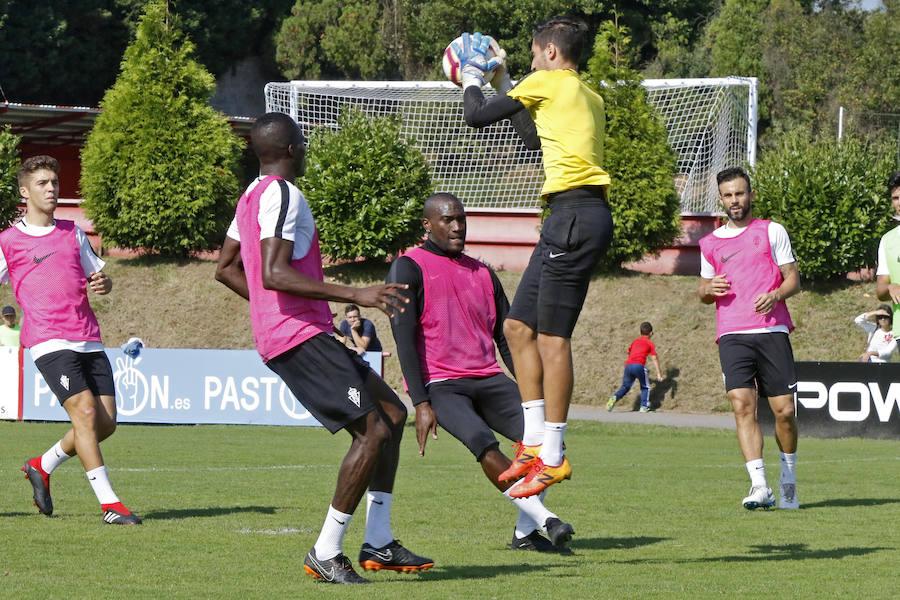 Entrenamiento del Sporting (08/09/18)