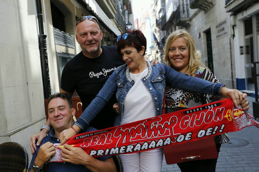 La Mareona, en La Coruña para dar fuerzas al Sporting