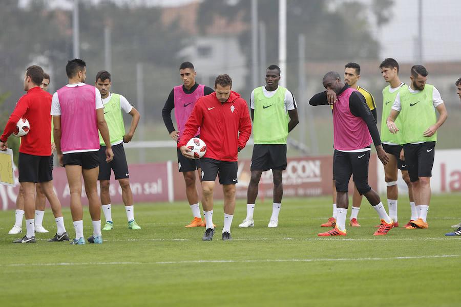 Entrenamiento del Sporting (11/09/18)