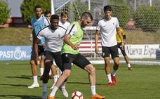 Sporting | Pelayo Morilla se ejercita al margen