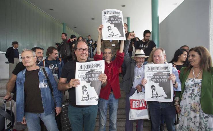 Llegada del 'tren negro' a Gijón