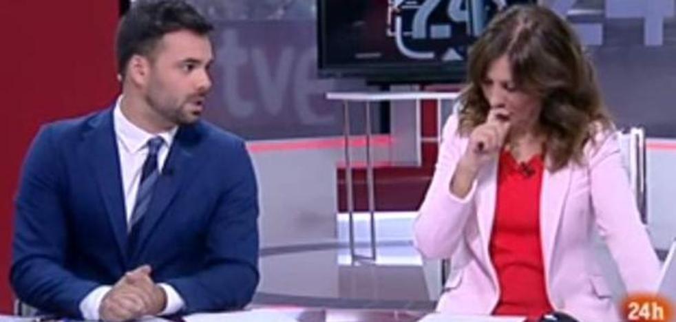 El atragantón en directo de una presentadora de TVE