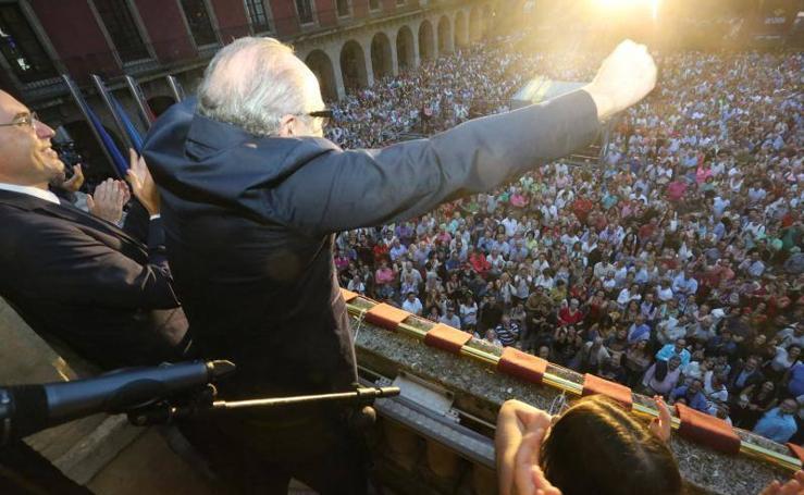 El emotivo pregón de Roberto Álvarez para dar inicio a la Semana Grande de Gijón