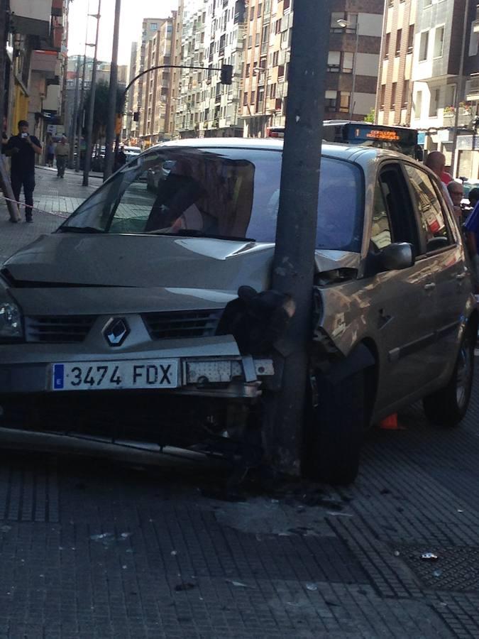 Las imágenes del accidente el la avenida Pablo Iglesias