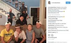 Los Beckham visitan el set de rodaje de 'Modern Family'