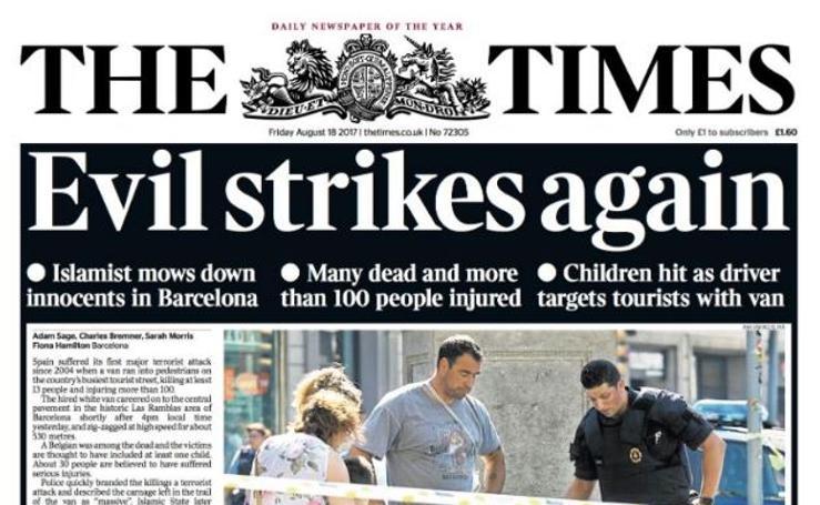 Así recoge la prensa internacional los atentados en Cataluña