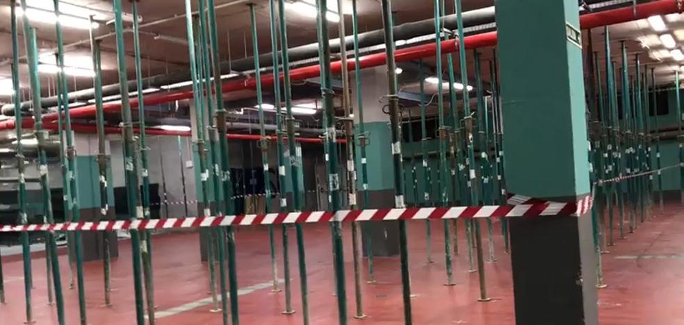 Apuntalan el sótano del HUCA para instalar un equipo de 1.400 kilos en radiología