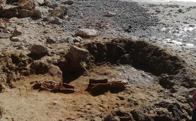 Confirman la existencia de una necrópolis romana en la playa de Sitges