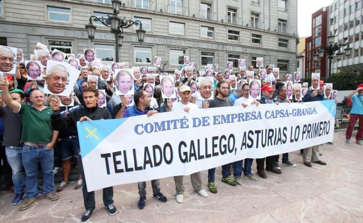 Protesta de los trabajadores de CAPSA en Oviedo