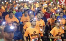 Espectacular carrera nocturna en Gijón