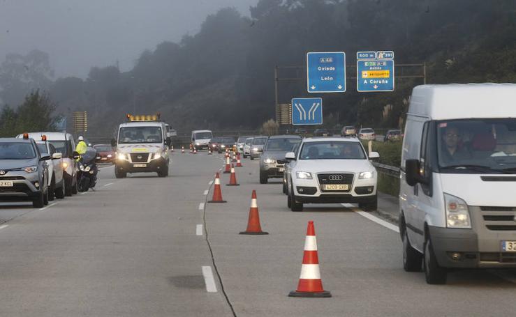 Primera jornada de obras en la autopista 'Y'