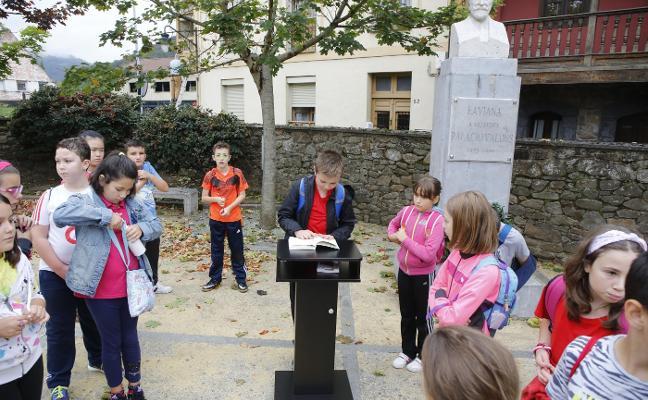 Los escolares lavianeses se empapan de Palacio Valdés