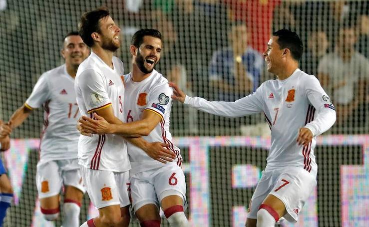 Israel - España, en imágenes