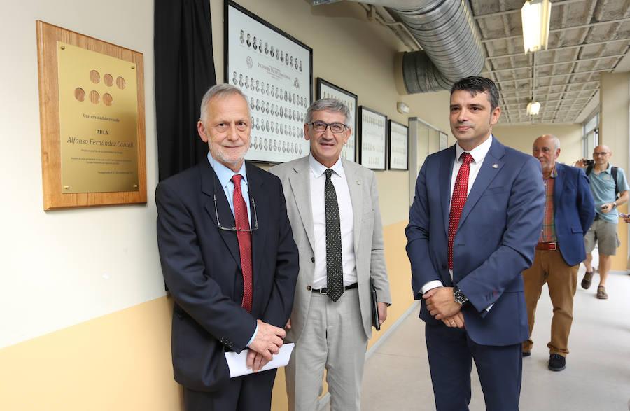 Inauguración del aula Alfonso Fernández Canteli en la EPI