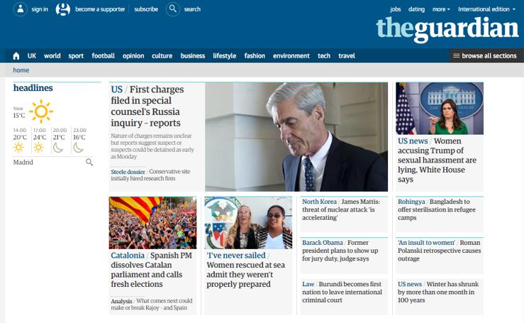 La prensa internacional mira a Cataluña