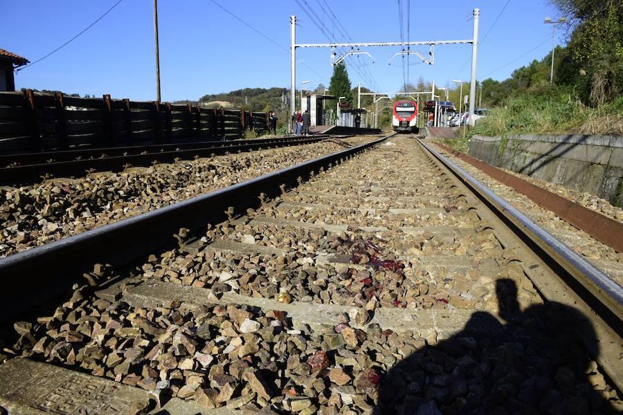 Fallece un hombre de 90 años tras ser arrollado por un tren en el apeadero de Las Segadas