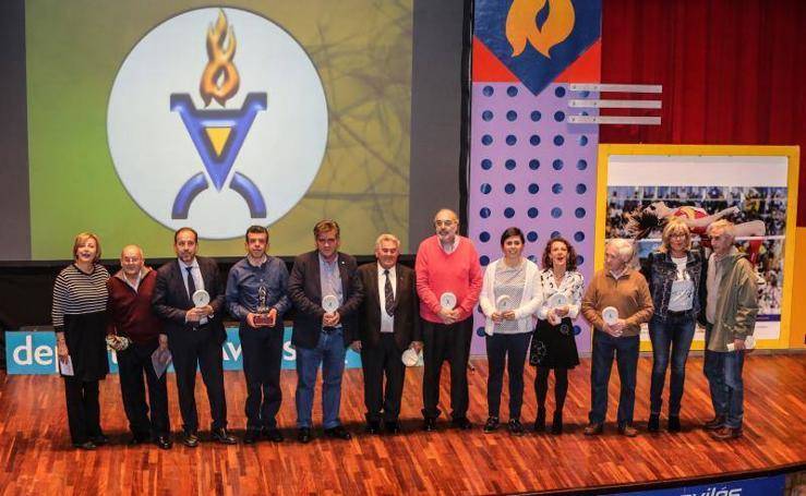 Acto de entrega de los Premios Tiempo de Deporte, en el marco de la Gala del Deporte de Avilés