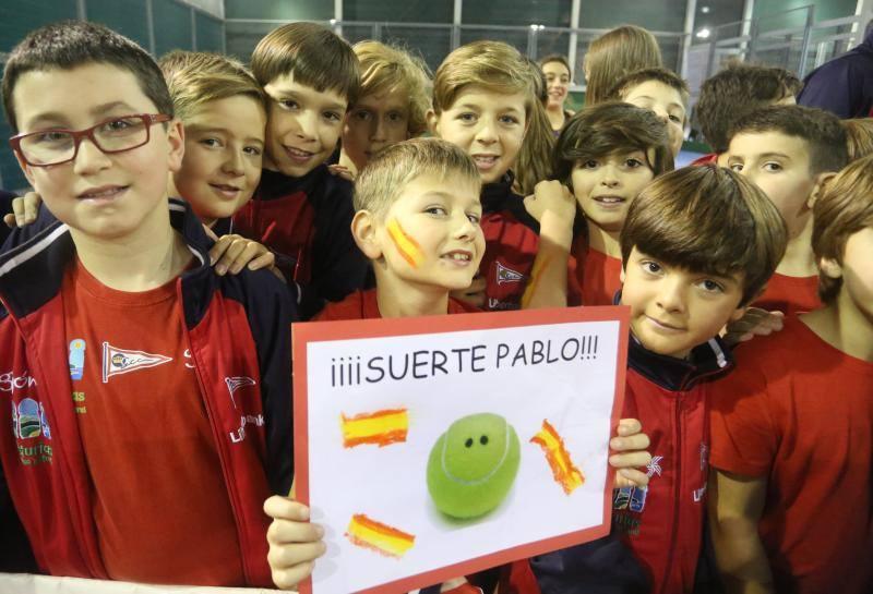 Las jóvenes promesas grupistas del tenis animan a Carreño