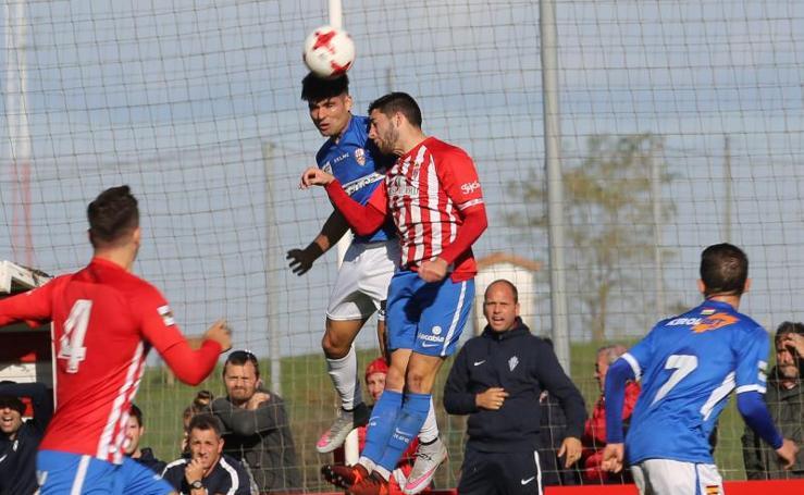 El Sporting B - Logroñés (1-0), en imágenes