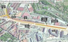 El Principado diseña un gran bulevar peatonal para cubrir el soterramiento
