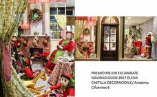 Ganadores del 35 Concurso de Escaparates Navidad 2017 en Gijón
