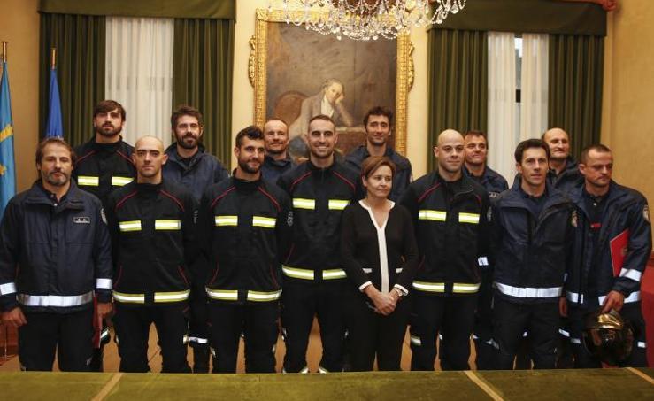 Los nuevos bomberos de Gijón