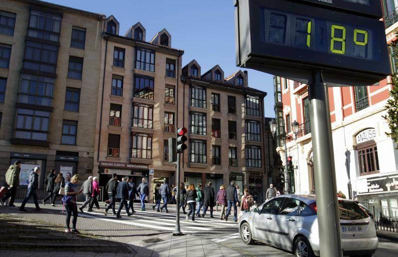 Comienza 2018 con sol y calor en Asturias