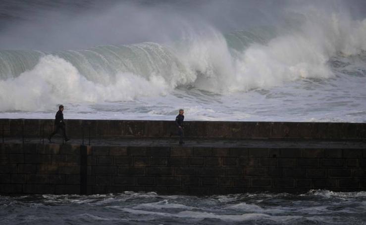 El temporal se hace notar en Asturias
