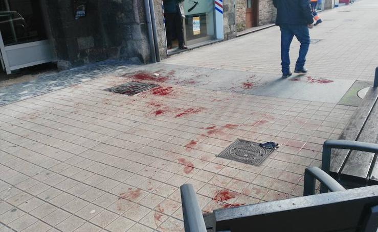 La pelea entre dos hombres en Gijón