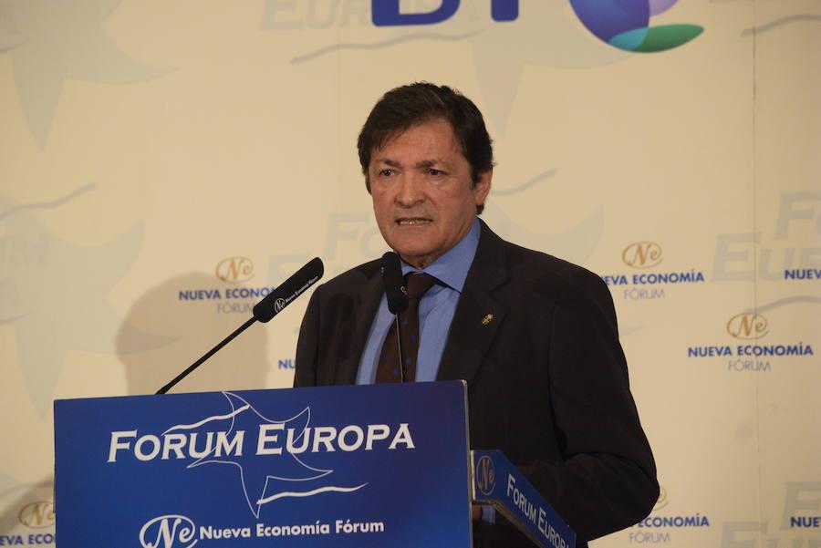 Javier Fernández, en el Foro Nueva Economía de Madrid