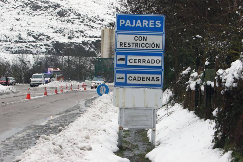 Asturias, bajo la nieve tras la llegada de un nuevo frente frío