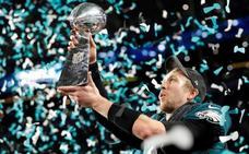 Los Eagles hacen terrenales a los Patriots