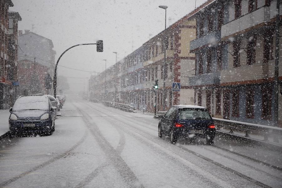 La nieve cubre los Valles Mineros