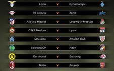 Lokomotiv y Marsella, rivales de Atlético y Athletic en octavos