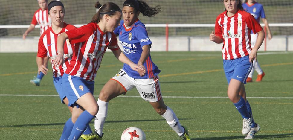 El Real Oviedo femenino repite victoria en el derbi asturiano