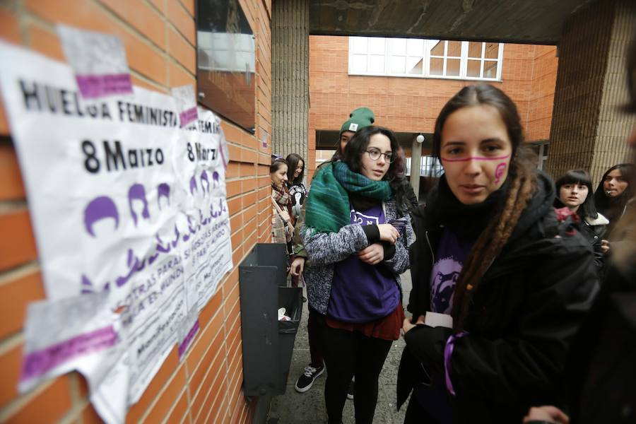Huelga del 8 de marzo: acciones de protesta en el Campus del Cristo
