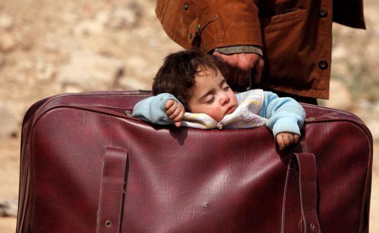 Las desoladoras imágenes del éxodo de refugiados desde Guta, Siria