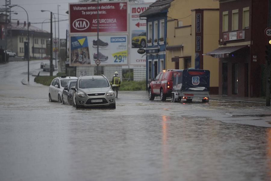 Inundaciones en Oviedo tras las fuertes lluvias