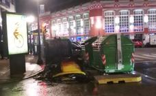 El pirómano que incendia contenedores actúa de nuevo en Gijón