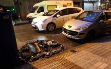 Arde un contenedor de reciclaje en Manuel Llaneza