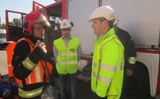 Los Bomberos y EDP realizan un simulacro en la subestación eléctrica de Gijón Norte