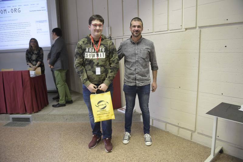 Entrega de los premios de la VII Olimpiada de Ingeniería Informática