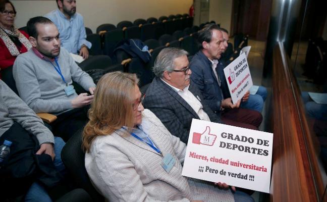 PP e IU se alían para forzar el respaldo de la Junta a que el grado de Deporte vaya a Mieres