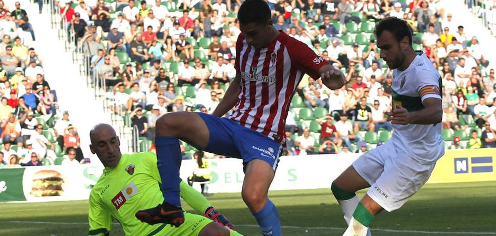 Nino le quita la ventaja al Sporting B (Elche 2-1 Sporting B)