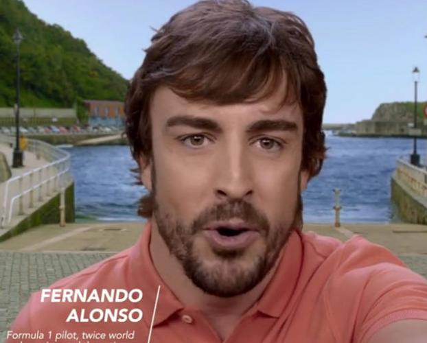 Fernando Alonso promociona Asturias en la campaña 'Spain in 10 seconds' de Turespaña