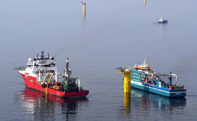 Las piezas de Idesa y Windar ya afloran en el Mar del Norte
