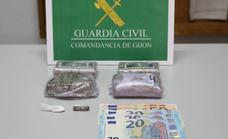 Detenido por tráfico de drogas en Gijón cuando iba en un coche con un conductor sin carné