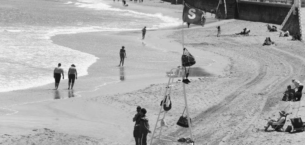 Marejada en la playa