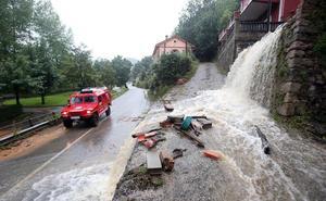 Las imágenes de las inundaciones en Asturias