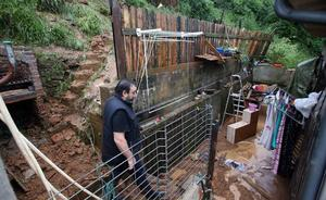 Las intensas lluvias causan inundaciones en numerosos puntos de Asturias